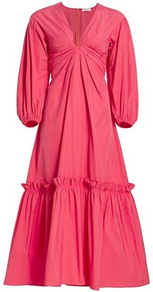 A.L.C. Irena Ruffle Tiered Midi Dress