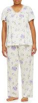 Lauren Ralph Lauren Plus Short-Sleeve Knit Pajamas