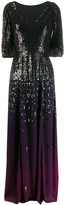 Temperley London graduated sequin gown