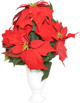 The French Bee 14 Red Poinsettias in Vase, Faux