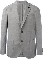 Lardini houndstooth blazer - men - Cotton/Linen/Flax/Polyester - 48