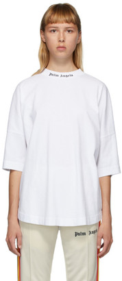 Palm Angels White Classic Logo T-Shirt