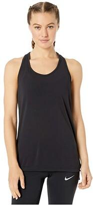 Nike Yoga Layer Tank (Black/Dark Smoke Grey) Women's Clothing
