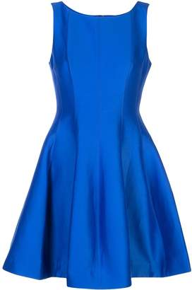Halston fit-and-flare dress