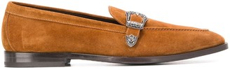 Etro Buckled Suede Loafers