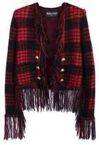 Balmain Women's Red Wool Outerwear Jacket.