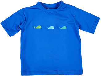 Florence Eiseman Boy's Whale Embroidered Rash Guard, Size 6-24 Months