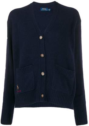 Polo Ralph Lauren embroidered pony straight-fit cardigan