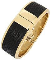 Kenneth Cole New York Gold and Black Hinged Bracelet