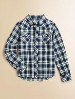 Diesel Boy's Plaid Shirt