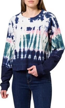 Desigual Women's Crewneck Tie Dye Sweatshirt