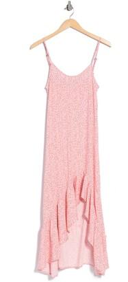 Velvet Torch Ruffled High/Low Slip Dress