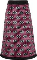 Gucci GG motif knitted midi skirt