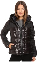 Duvetica Angusina Inset Quilted Down Hooded Jacket Women's Coat