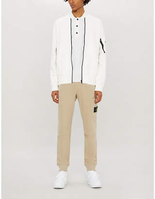 Stone Island Two-tone cotton-jersey jacket
