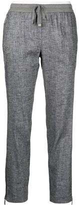 Lorena Antoniazzi Drawstring-Waist Cropped Trousers
