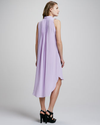 Rebecca Taylor Sleeveless Pintucked Shirtdress
