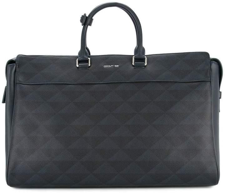 Cerruti geometric print structured briefcase