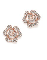 Bloomingdale's Diamond Flower Stud Earrings in 14K Rose Gold, .50 ct. t.w.