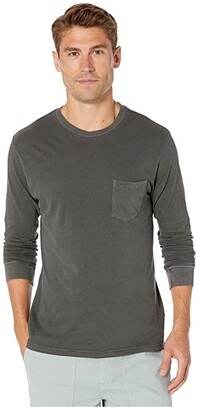 RVCA PTC Pigment Long Sleeve (Pirate Black 1) Men's Clothing
