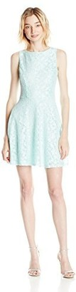 Speechless Junior's Sleeveless Lace Fit and Flare Dress