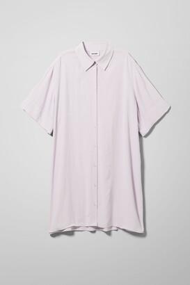 Weekday Harmony Shirt Dress - Black