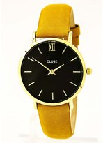 Cluse Women's 33mm Mustard Leather Band Steel Case Quartz Watch Cl30035