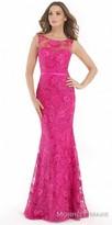 Morrell Maxie Sequin Highlighted V-back Trumpet Evening Dress