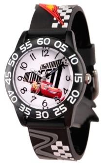 EWatchFactory Disney Cars 3 Lightning McQueen Boys' Black Plastic Time Teacher Watch