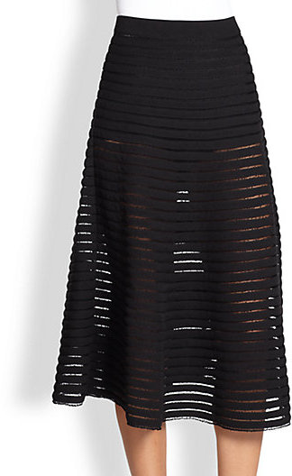 Cynthia Rowley Paneled Illusion Midi Skirt