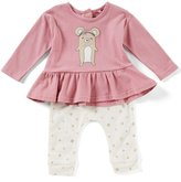 Jessica Simpson Baby Girls Newborn-9 Months Mouse Ruffle Top & Printed Pants Set