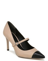 Via Spiga Cindee Pointy Cap Toe Leather Pump
