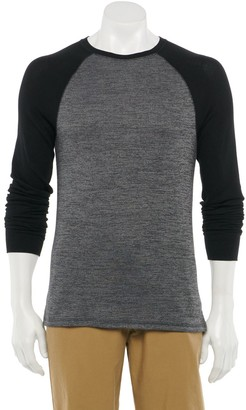 Urban Pipeline Men's Raglan Thermal Crewneck Tee