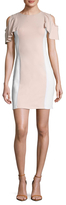 Susana Monaco Gigi Flutter Sleeve Colorblocked Sheath Dress