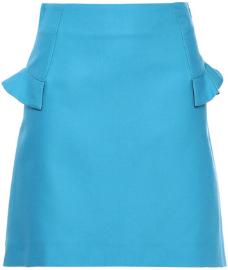 Sandro Oro Ruffle-trimmed Cotton-blend Cady Mini Skirt