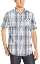 O'Neill Men's Emporium Plaid Short Sleeve Woven Shirt
