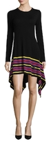 Love Moschino Striped Hem Wool Dress