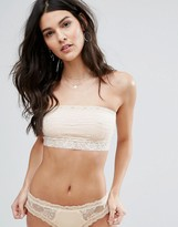 Free People Scalloped Lace Trim Bandeau