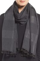 Eileen Fisher Hand Loomed Metallic Wool Blend Scarf