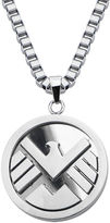 JCPenney FINE JEWELRY Marvel Agents of S.H.I.E.L.D. Logo Mens Stainless Steel Pendant Necklace