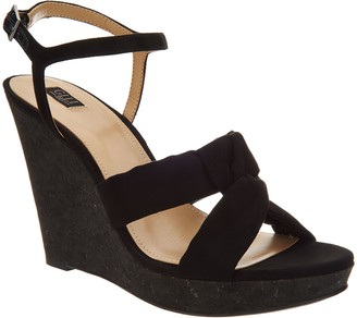 G.I.L.I. Got It Love It G.I.L.I. Knotted Front Wedge with Ankle Strap - Kahlie