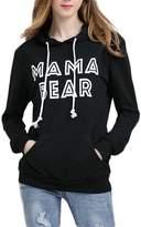 JINTING Women's Casual MaMa Bear Letter Print Sweater Hoodies Sweatshirt Coat