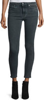 IRO Elle Faded Stretch Ankle Jeans, Dark Gray