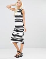 Daisy Street Shift Dress In Stripe