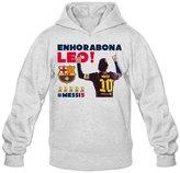 QDYJM Men's Barcellona Enhorabona Leo! Messi 5X Golden Ball Award Hoodie