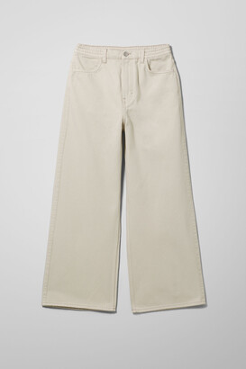 Weekday Linear Denim Trousers - Blue