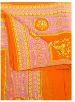 Versace Women's Baroque Pattern Modal Cashmere Blend Scarf Orange Large.