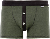 Schiesser - Karl Heinz Striped Cotton-jersey Boxer Briefs