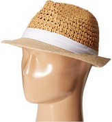 Steve Madden Two Weave Banded Fedora Fedora Hats