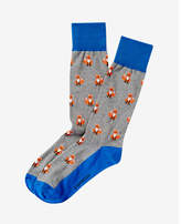 Express fox print dress socks